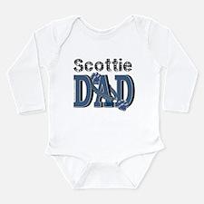 Scottish Terrier DAD Long Sleeve Infant Bodysuit