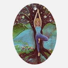 Yoga Balance-Tree POSE Ornament (Oval)