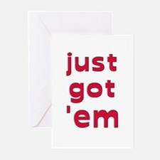 Just got 'em.. breast implant   Greeting Cards (Pa