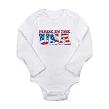 Made in the USA Long Sleeve Infant Bodysuit
