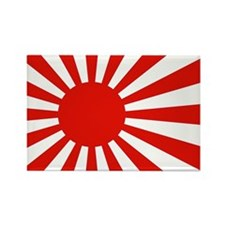 Japanese Flag Rising Sun Japan Rectangle Magnet