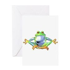 Meditating Frog Greeting Card