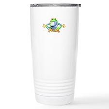 Meditating Frog Travel Mug