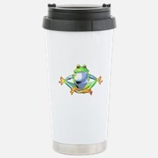 Meditating Frog Travel Mug