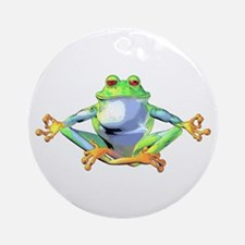 Meditating Frog Ornament (Round)