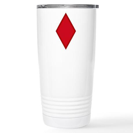 Red Diamonds Stainless Steel Travel Mug