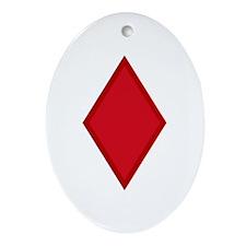 Red Diamonds Ornament (Oval)