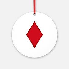 Red Diamonds Ornament (Round)