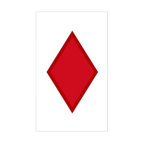 Red Diamonds Sticker (Rectangle)