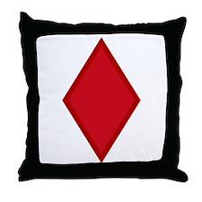 Red Diamonds Throw Pillow