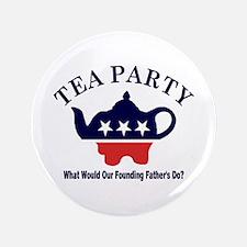 """Tea Party 3.5"""" Button"""
