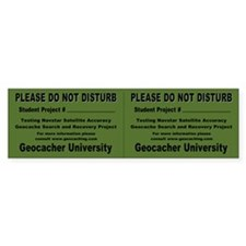 """Student Project"" Geocache Sticker (Double)"