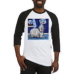 BERGAMASCO SHEEPDOG smiling m Baseball Jersey