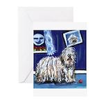 BERGAMASCO SHEEPDOG smiling m Greeting Cards (Pack
