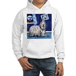 BERGAMASCO SHEEPDOG smiling m Hooded Sweatshirt