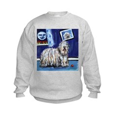BERGAMASCO SHEEPDOG smiling m Sweatshirt