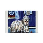 BERGAMASCO SHEEPDOG smiling m Rectangle Magnet (10