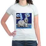BERGAMASCO SHEEPDOG smiling m Jr. Ringer T-Shirt