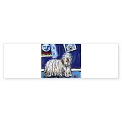 BERGAMASCO SHEEPDOG smiling m Bumper Bumper Sticker