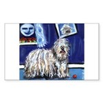 BERGAMASCO SHEEPDOG smiling m Sticker (Rectangular