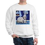 BERGAMASCO SHEEPDOG smiling m Sweatshirt