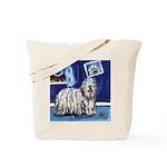 BERGAMASCO SHEEPDOG smiling m Tote Bag