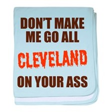 Cleveland Football baby blanket