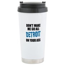 Detroit Football Travel Mug