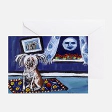 CHINESE CRESTED DOG smiling m Greeting Cards (Pack