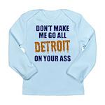 Detroit Baseball Long Sleeve Infant T-Shirt