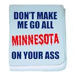 Minnesota Baseball baby blanket