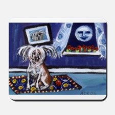 CHINESE CRESTED DOG smiling m Mousepad
