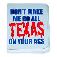 Texas Baseball baby blanket