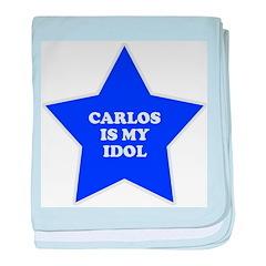 Carlos Is My Idol baby blanket