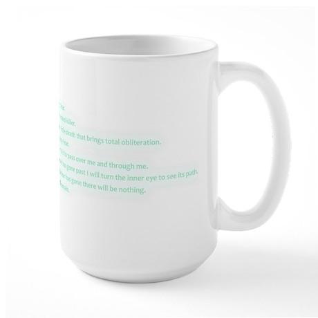 Litany of Fear Large Mug