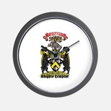 Knights Templar Illuminati Crest Wall Clock