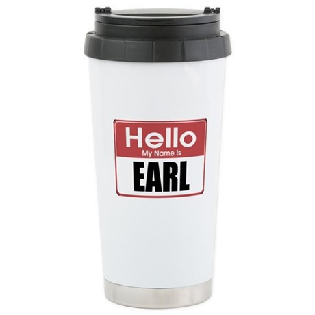 Earl Name Tag Stainless Steel Travel Mug