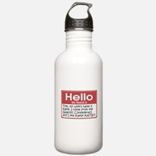 Hello My Name Is Tom Water Bottle