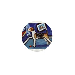 ENGLISH FOXHOUND smiling moon Mini Button (100 pac