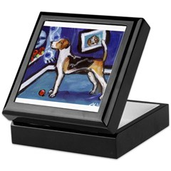 ENGLISH FOXHOUND smiling moon Keepsake Box