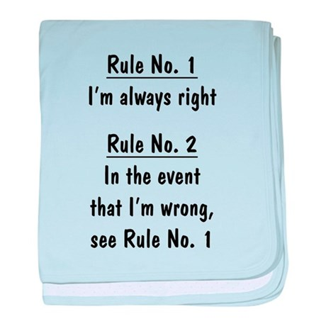 The Rules baby blanket