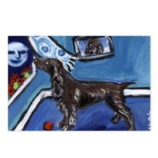FIELD SPANIEL smiling moon do Postcards (Package o