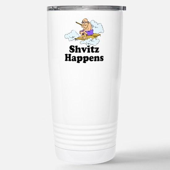 Shvitz Happens Stainless Steel Travel Mug