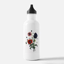 Poppy Art Water Bottle