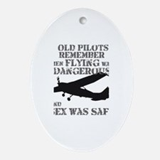 Old Pilots Style A Ornament (Oval)