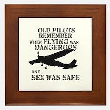 Old Pilots Style A Framed Tile