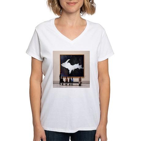U.P. At The Guggenheim Women's V-Neck T-Shirt