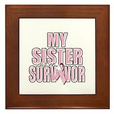 My Sister is a Survivor Framed Tile