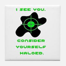 Cute Halo Tile Coaster