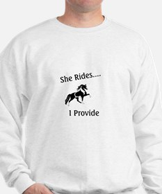 Cute Spotted walking horse Sweatshirt